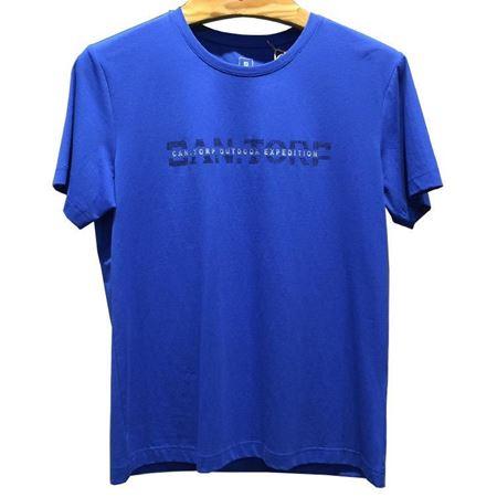 肯拓普(CAN·TORP)男式圆领休闲T恤衫8122794527 彩蓝 2019春季新款