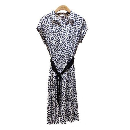 易菲X型短袖连衣裙 1905Y414 蓝白小花 2019夏季新款