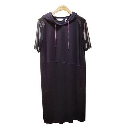 易菲O型短袖连衣裙 1904Y201 黑色 2019夏季新款