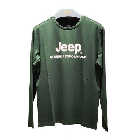 Jeep 男式长袖T恤衫 J932194502 石墨绿 2019秋季新款