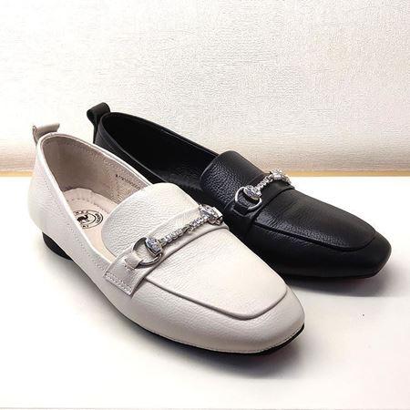 骆驼女式皮鞋 A191095007 白色/黑色 2019秋季新款