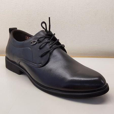 骆驼男式系带皮鞋 A293284005 黑色 2019秋季新款