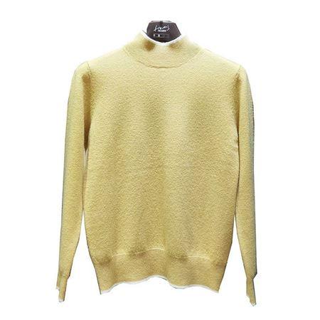 海尔曼斯半高领长袖羊绒衫 Z905B22DN095  黄色