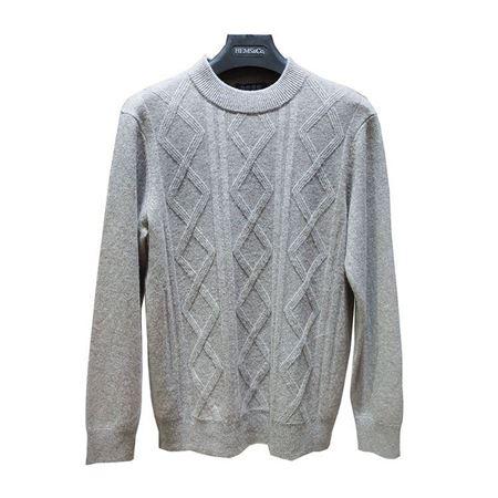 海尔曼斯男式半高领长袖羊绒衫 X915B72MO110 灰色